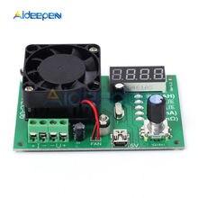 Probador de carga electrónico TEC-06, probador de capacidad de batería de 16W para medidor de corriente móvil, máx. 500AH, pantalla LED con ventilador