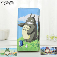 Woman's long wallets Clutch Cartoon printing totoro  Large Capacity Wallet Female Purse Lady Purses Phone Pocket Card Holder 540