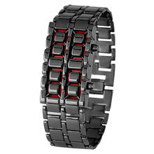 Fashionable Alloy Lava Digital Watch for Men Special LED Display Women Watches Solid Bracelet Clasp Gift erkek kol saati