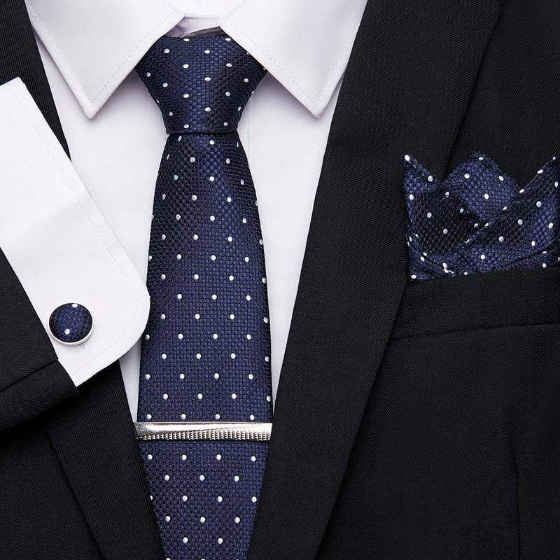 52 Colors Classic 7.5cm Tie For Men 100% Silk Tie Set Luxury Striped Slim Ties For Men Suit Cravat Wedding Party Mens Ties Gift