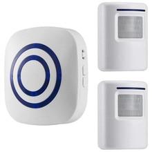 Alarme capteur de mouvement, Kits de sécurité domestique, système dalarme sans fil, Segurida, capteur de mouvement, alerte, 2 capteurs et 1 récepteur