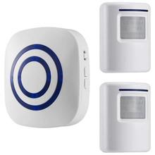 Motion Sensor Alarm Wireless Alarm Systems Security Home Kits Segurida Motion Sensor Detect Alert 2 Sensor and 1 Receiver cheap CN(Origin) RoHS Door Sensor 110V-240V The Alarm 80 x 76 x 33mm home security home alarm Alarm System Kits 80 x 59 x 45mm