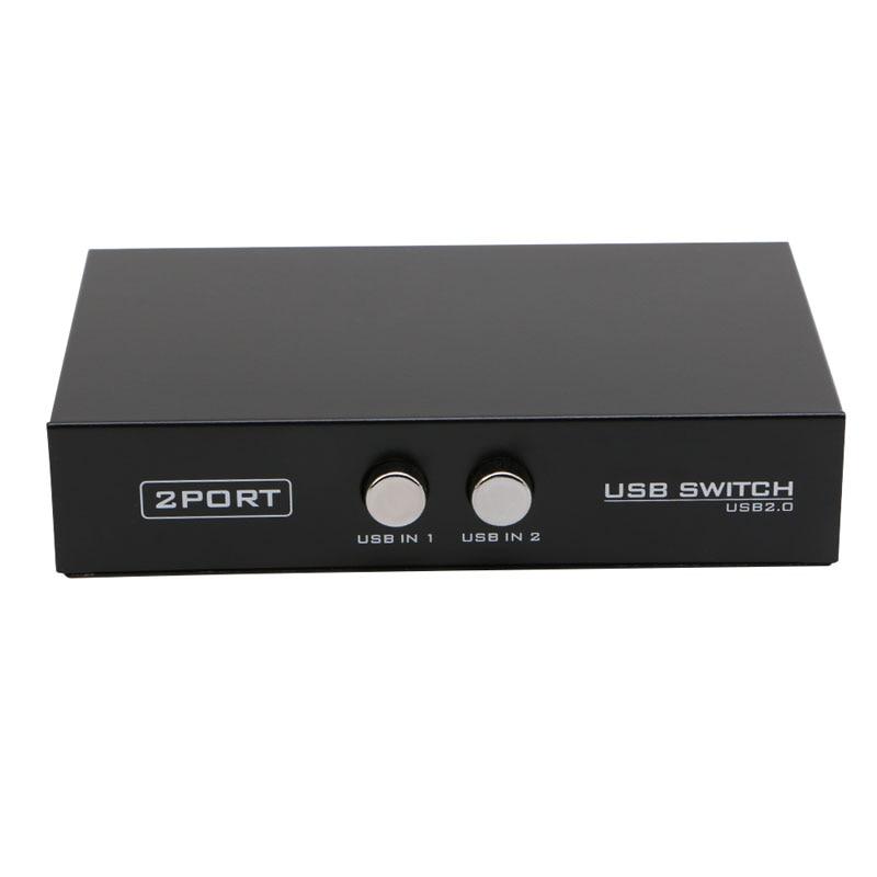 2 порта USB2.0 распределительное устройство переключатель адаптер Коробка для ПК Сканер Принтер Прямая поставка