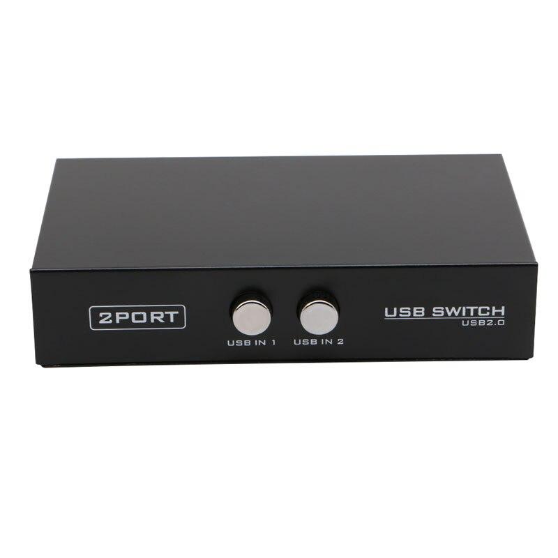 2020 новый 2 порта USB2.0 устройство переключатель распределитель адаптер Коробка для ПК Сканер Принтер