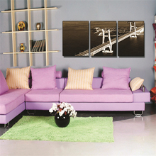 Landscape Living Room Decoration Painting Frameless Painting Triple Bedroom Hanging Painting Mural Wall Painting Crystal Film недорого