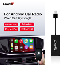 Carlinkit-Apple Carplay USB para coche, Dongle /Android Auto, enlace inteligente para Android, con Sistema iOS 13 14, Carplay, compatible con mirrorlink