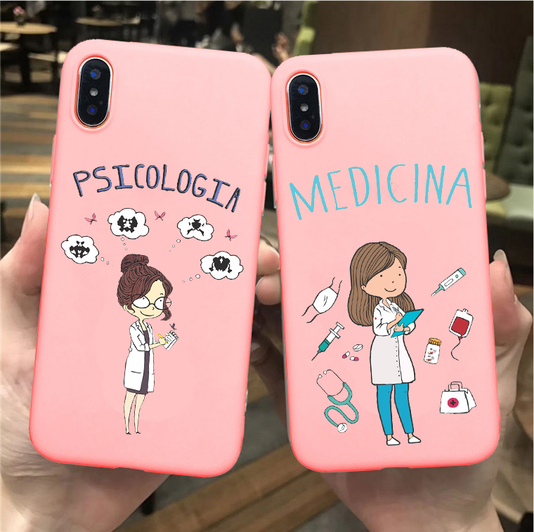 Social Services Psychology Doctors Nurse Teacher Candy Pink Soft TPU Phone Case Cover For IPhone 11 PRO 6SPlus 8 8Plus XSMAX XR