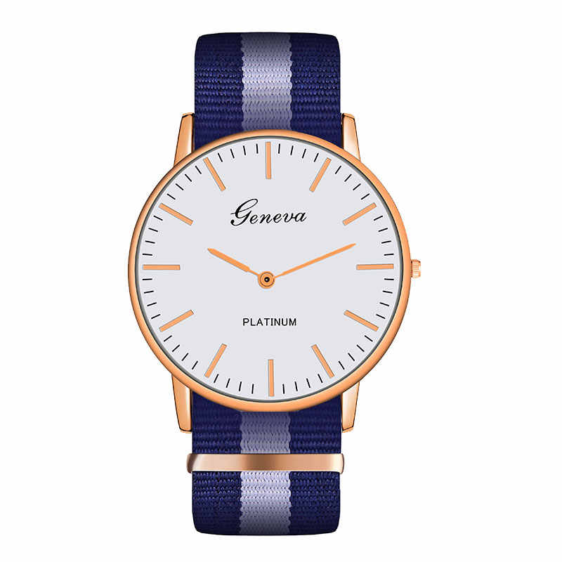 Fashion Casual Quartz Watch with Multicolor Nylon Cloth Watchband Wristwatch Simple Designer Women Men Watches Clock Orologio