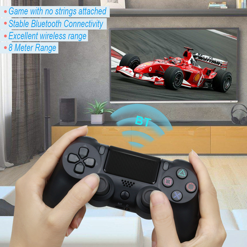 Bluetooth Gamepad and Wireless Game controller with Audio Function for PS4 and PS3 10