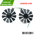 87 мм T129215BU FDC10U12D9-C PLD09210B12HH охлаждающий вентилятор для карт для ASUS Radeon RX 470 570 580 EXPEDITION OC Graphics