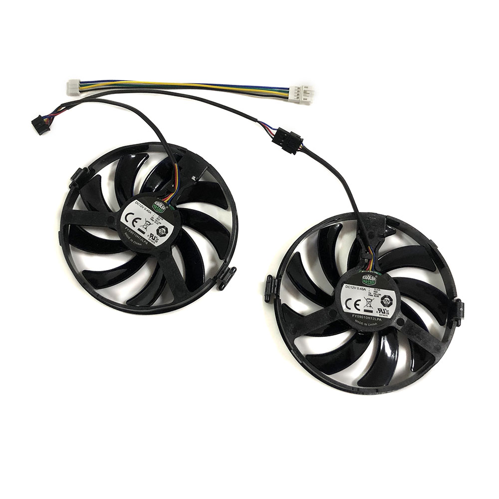 XFX RX460 R9-380X R7-370 GPU VGA Cooler Cooling Fan For XFX RX460 2gb/4GB R9 380X R7 370 Video Grahics Cards As Replacement image