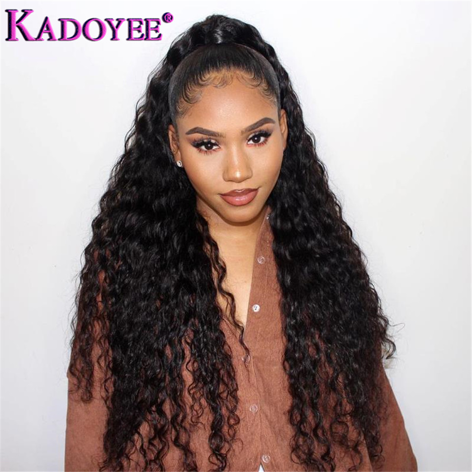 Brazilian Natural Water Wave Wig 13x4 Lace Front Human Hair Wigs Pre Plucked With Baby Hair Natural Hairline Remy Hair Wigs