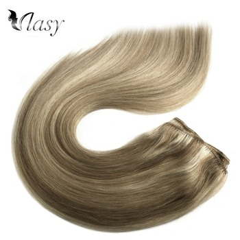 Vlasy 20'' Remy Human Hair Weft Double Drawn Straight Natural Hair Weave Bundles Balayage Color 100g/pc full shine balayage color 3 8 613 hair weft 100g hair weave sew in ribbon hair 100