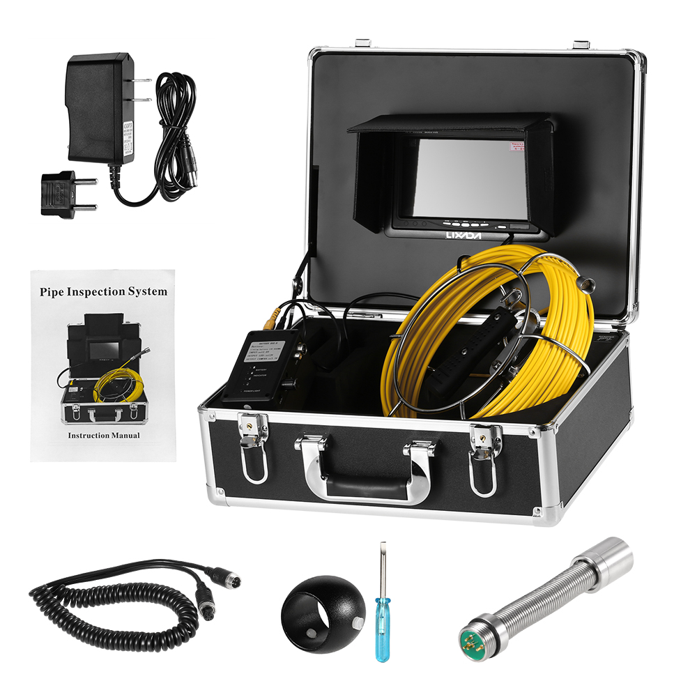 """20M / 30M Fish Finder Drain Pipe Sewer Inspection Underwater Fishing Camera Waterproof 7"""" LCD TFT Fishing Finder