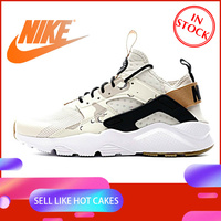 Original Authentic NIKE AIR HUARACHE RUN ULTRA Men's Running Shoes Sneakers Sport Outdoor Athletic Designer 2019 New 752038 991