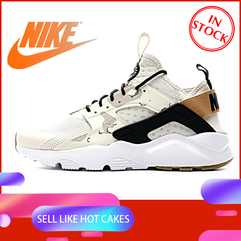 Original Authentic NIKE AIR HUARACHE RUN ULTRA Men's Running Shoes Sneakers Sport Outdoor Athletic Designer 2019 New 752038-991 image