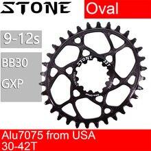 Chainring oval de pedra para bb30 0mm 0mm offset xx1 eagle x01 x7 x0 x9 s1400 30t 32 34 36 38 roda de montagem direta da bicicleta para sram