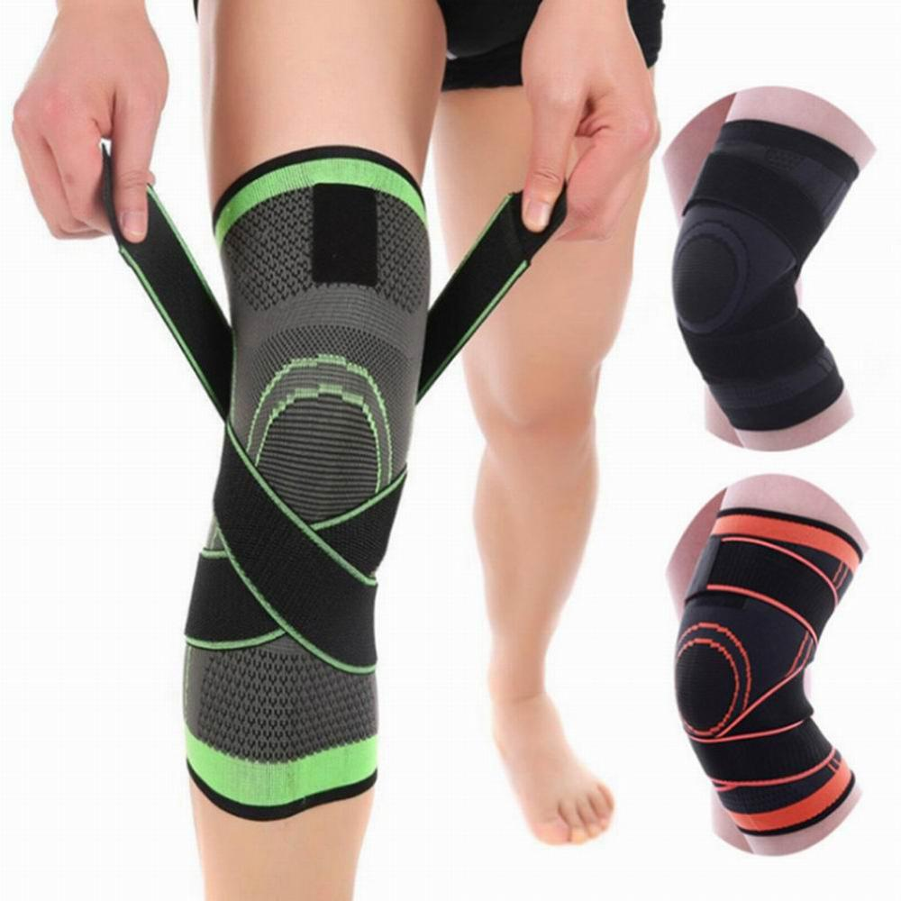Knee pad Elastic Bandage Pressurized Breathable Knee Support Protector For Fitness Sport Running Arthritis Muscle Joint Brace