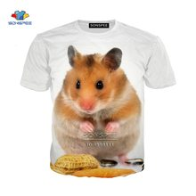 Животное хомяк еды пиратский 3d принт мужские футболки женская