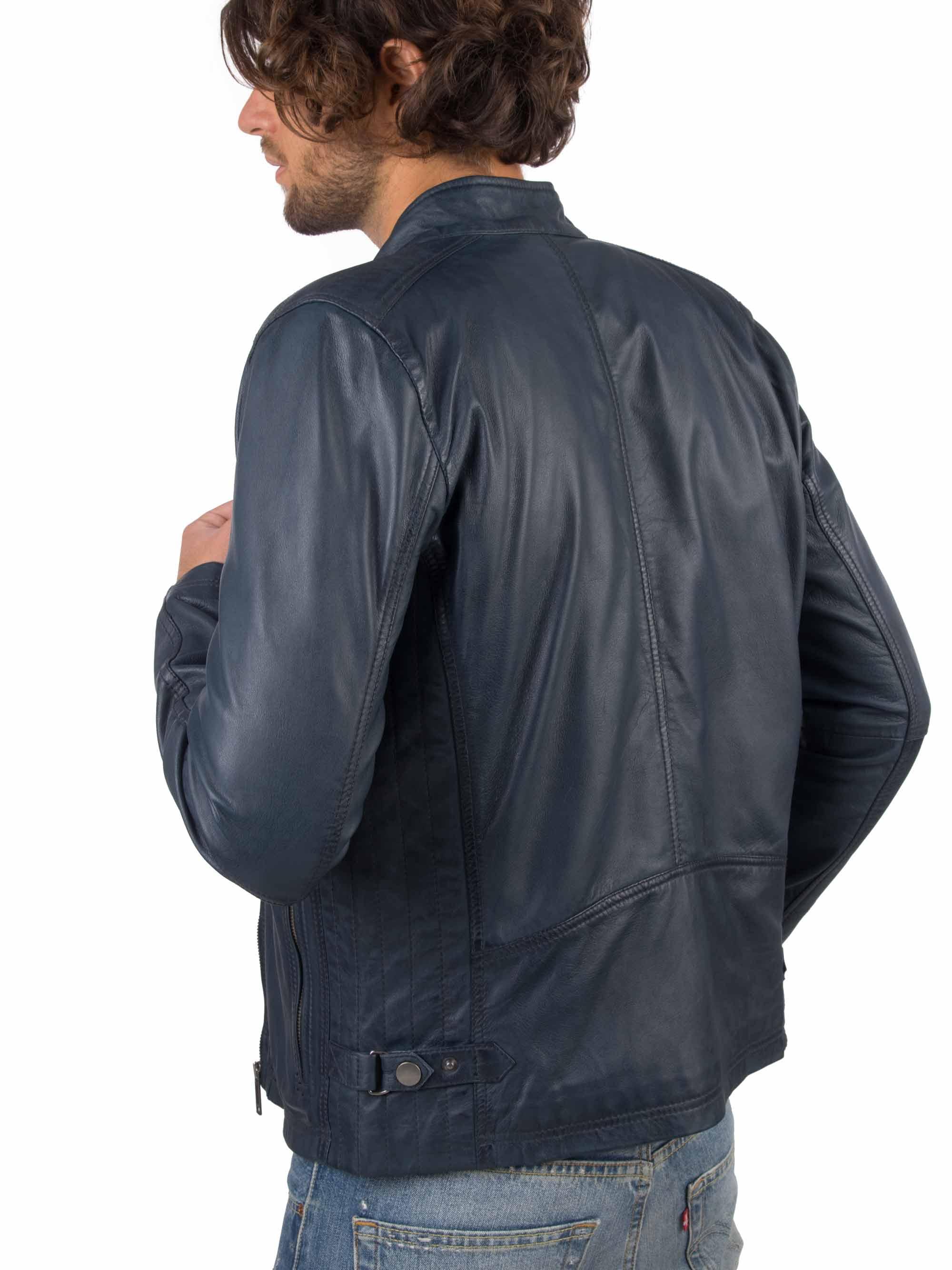 He9c14b18b3ef4c8d89c1c6a4a7bb9adbD VAINAS European Brand Mens Genuine Leather jacket for men Winter Real sheep leather jacket Motorcycle jackets Biker jackets Alfa