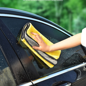 Image 5 - 40x80CM 600GSM Microfiber Towel Car Wash Cloth Auto Cleaning Door Window Care Thick Strong Water Absorption Rags For Car Home