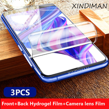 XINDIMAN 25D 3pcs front+back+camera lens film forhauwei honor9 soft screen protector for huawei honor9X honor9lite hydrogel Film