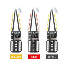 1x W5W Led T10 8 SMD 3030 Glass Car Light Imitation Filament Design Auto Reading Dome Wedge License Plate Bulb Lamp DRL 12v