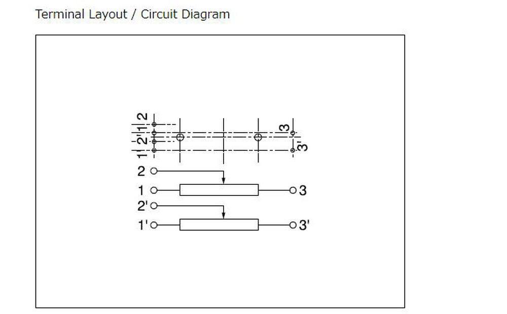 10ka monounidade slide potenciômetro rs6011ya600m rs6011