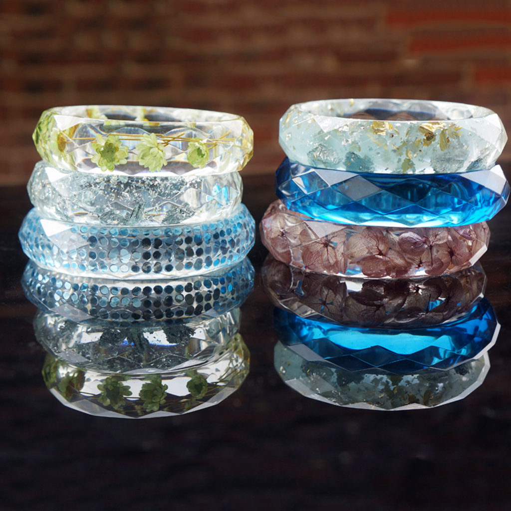 3pcs Assorted Silicone Bracelet Mold For DIY Bangle Jewelry Making Mould