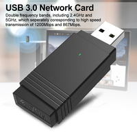 1200Mbps Dual-band Wireless Multifunctional Gaming Universal USB 3.0 Network Card High Speed Laptop Wifi Adapter Bluetooth 5.0