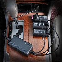 Carregador de carro automático 3 em 1 bateria usb carregamento hub adaptador 3 canais para mavic mini drone bateria