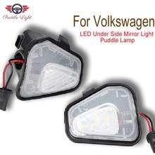 цена на 2Pcs LED Side Mirror Puddle Lights Lamp No Error for Vw Volkswagen CC Passat B7 EOS Scirocco Jetta