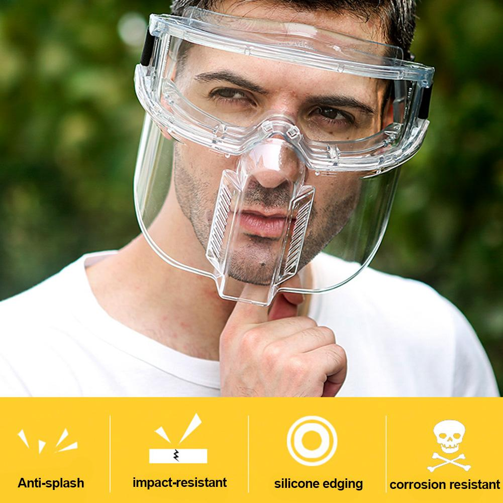 Transparent Face Mask Protective Goggles Protective Face Shield Transparent Anti-droplets Separable Eyeglasses Eyepiece