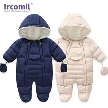 Ircomll Newborn Baby Boy Girl Winter Rompers Toddler Infant Long Sleeve Jumpsuit Cotton Baby Costume Crawling Kids Clothes Cost new year newborn baby rompers winter pure cotton panda baby boy clothes jumpsuit baby girl costume animal rompers kids clothings