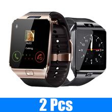 2 sztuk DZ09 otrzymać telefon zwrotny od inteligentne zegarki inteligentny zegarek Fitness Smart Watch zegarek na rękę wsparcie TF SIM pilot zdalnego sterowania muzyka aparat dla iOS Android tanie tanio OLOEY CN (pochodzenie) Brak Na nadgarstek Zgodna ze wszystkimi 128 MB Krokomierz Rejestrator aktywności fizycznej Rejestrator snu