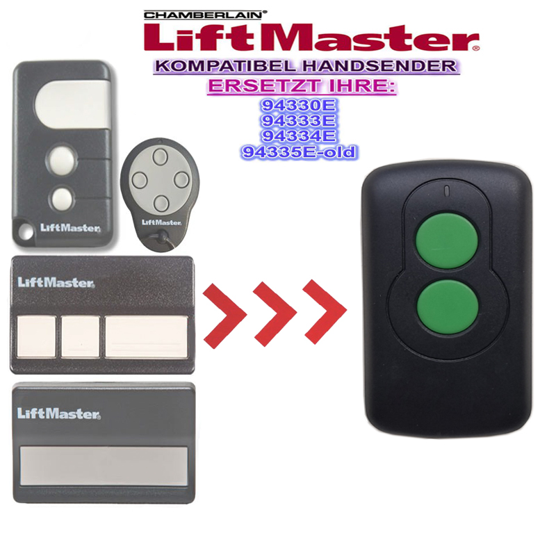 FOR Chamberlain 94335E Liftmaster 94335E  433mhz Garage Door Remote Control Compatible Replacement Remote
