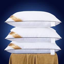 Five-Star Hotel Anti-Feather Fabric Down Alternative Pillow Insert  Protection Cervical Vertebra Pillow (1 pc Pack)