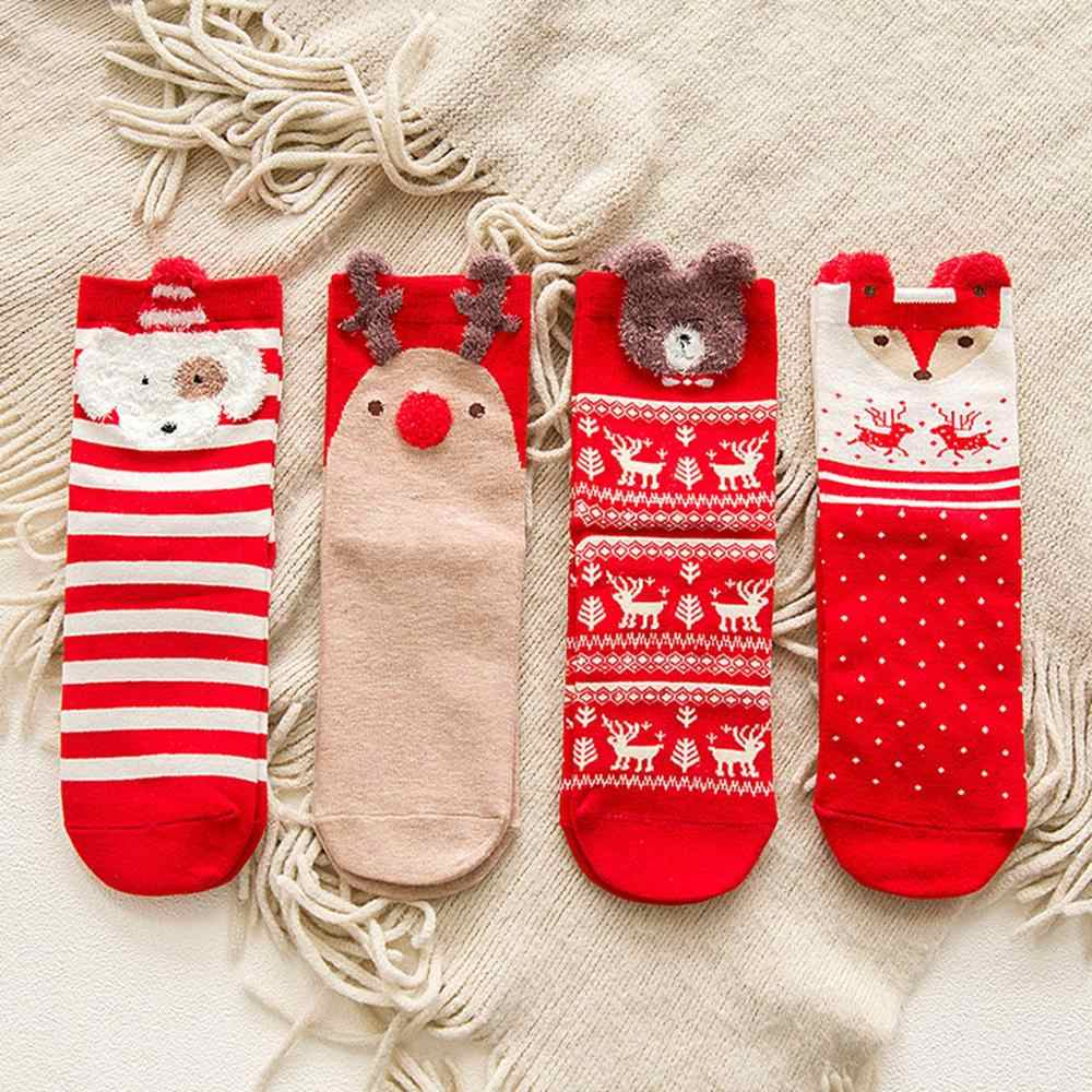 Taoup Santa Claus Merry Christmas Socks Cartoon Xmas Socks Christmas Decoration for Home 2019 Noel 2018 New Year Gifts for Kids