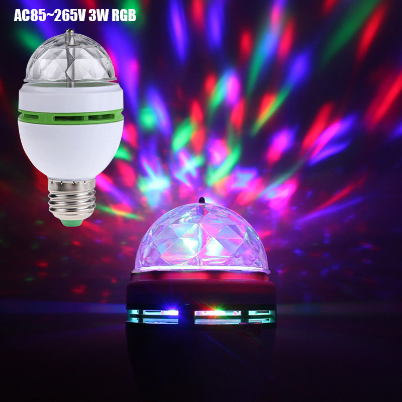 Led Disco Light Stage Lights DJ Disco Ball Party Lights 3W RGB LED Stage Light For Christmas Home KTV Christmas Wedding Show D30