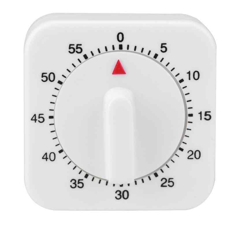 Cuenta atr/ás de la cocina Recordatorio del temporizador de cocina 60 minutos Sin bater/ía Visual magn/ético con recordatorio de alarma fuerte beige Donpow Temporizador de cocina