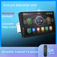 9 inch Mirrorlink Android 9.0 iPhone Multimedia Player Subwoofer Bluetooth Rear Camera car radio MP5 Player One Din No Android