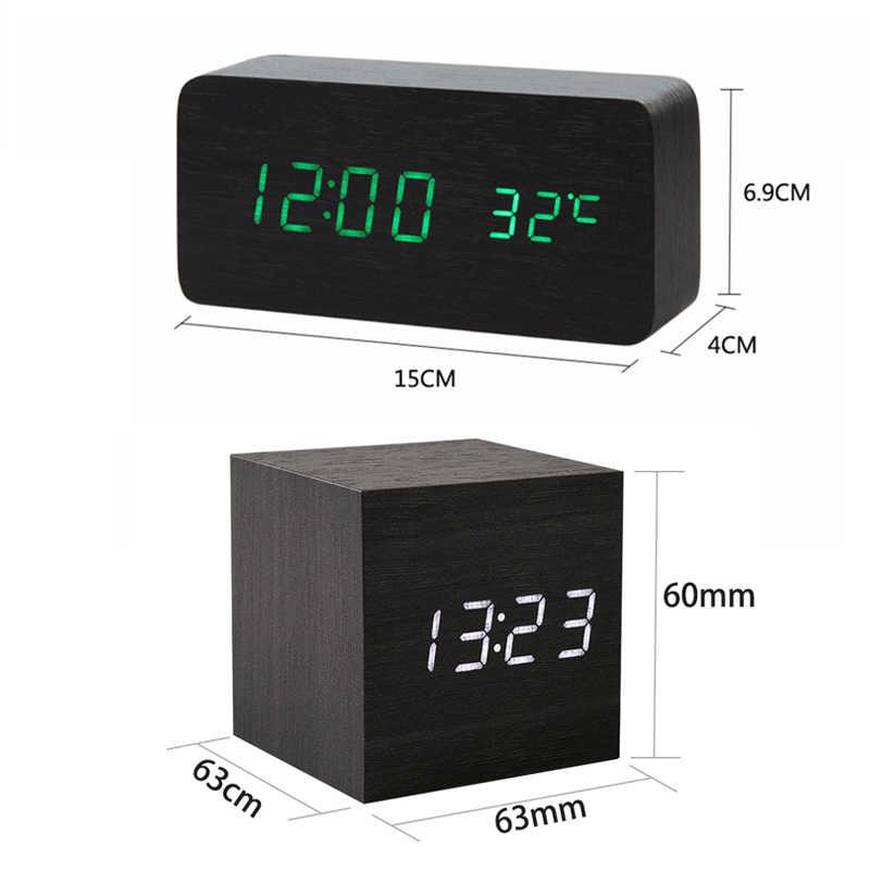 LED Digital Projection Alarm Clock Temperatura Termometro Scrivania Visualizzazione della Data di Tempo Proiettore Calendario USB Caricatore Da Tavolo A Led Orologio