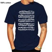 T-shirt imprimé col rond manches courtes décontracté Nocturne musique chopin piano note nocturne homme Dessin Animé Amusant T-shirt