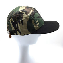 Women Men Camouflage 5 Panel Hip Hop Cap with Black Flat Peak Brim Unisex Camo Baseball Caps with PU Belt Buckle on the Back(China)