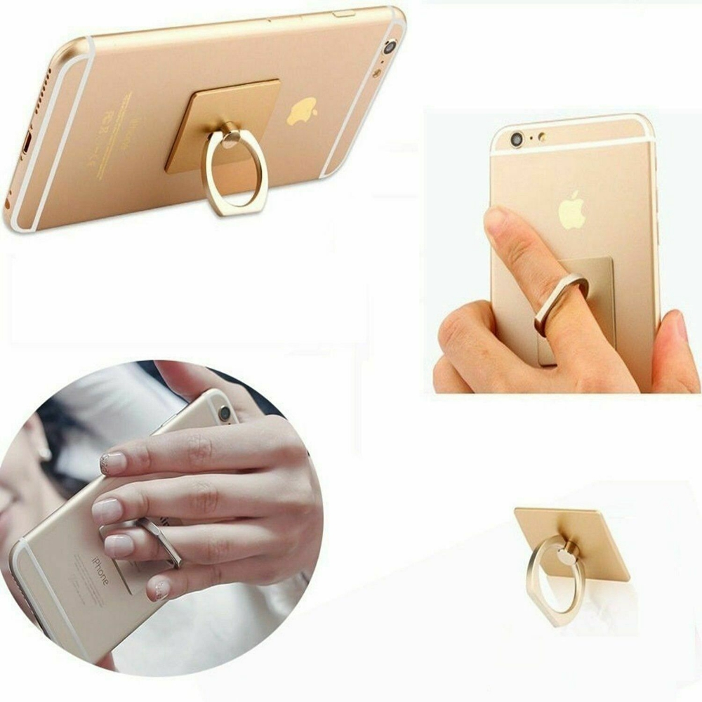 iBarbe Phone Ring Holder,360 Rotation Finger Ring Stand Metal Finger Holder Phone Grip Universal Compatible with iPhone X,XS MAX,8,7,7Plus,6s,Galaxy S7 S8 S9 S9 Plus More Smartphones-Silver
