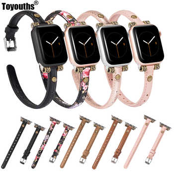 Slim Genuine Leather Strap For Apple Watch 4 5 44mm 40mm Women iwatch Band 42mm 38mm Wristband Strap for iWatch Series 4 3 2 1 - DISCOUNT ITEM  45% OFF All Category