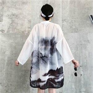 Dreastern japoński stroje kardigan kimono kobiety yukata kobieta chiński kimono harajuku odzież kawaii bluzka koszula haori obi