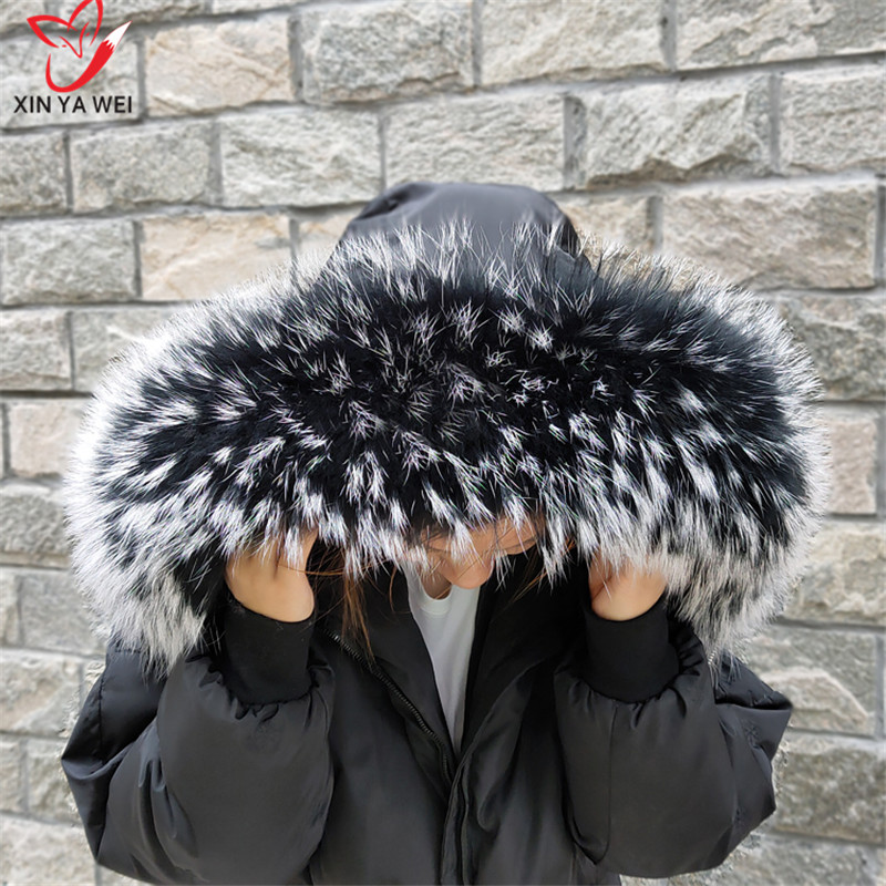 Raccoon Fur Collar, Natural Fur Trim, Custom Sweatshirt, Fox Fur Collar, Down Coat Trim, Hood, Natural Winter Scarf