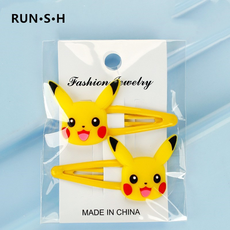 2/5Pcs Pokemon Hair Clips For Baby Girls Rubber Band Lol Hair Accessories Hair Kids Lovely BB Hair Clips Barrettes Headband