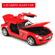 1:32 High Simulation Sports Car Diecast Metal Alloy Car Openable Door Belt Sound Light Classical Model Car Toys Boy Gift 1 32 scale model cars to scale model car alloy toy cars openable door belt sound and light diecast toys for boy kids gift